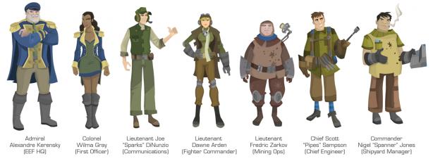Strikefleet Omega Characters