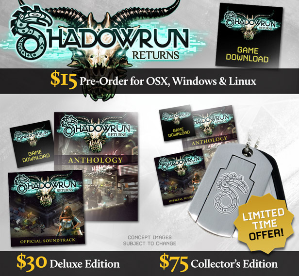 Shadowrun Returns Preorder