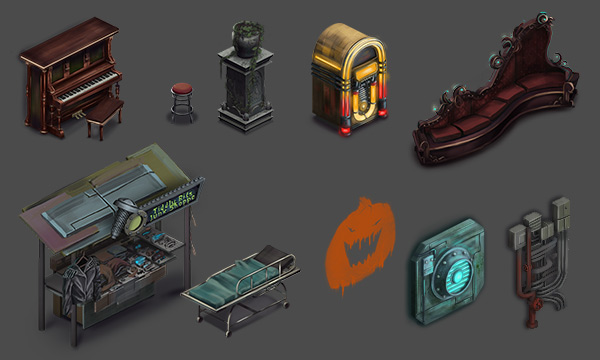 Some examples of finished props.